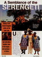 Feature Story: A Semblance of the Serengeti
